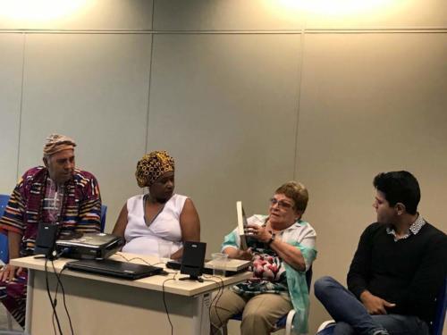 Mesa Redonda – Tradições Bantu, Jeje e Nagô – Yeda Pessoa de Castro, Mãe Paula e Dote João de Oyá. Mediador: Dr. Alberto Pacheco